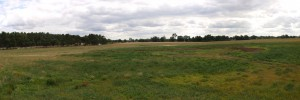 Blick auf den Zeltplatz in Panoramaansicht.